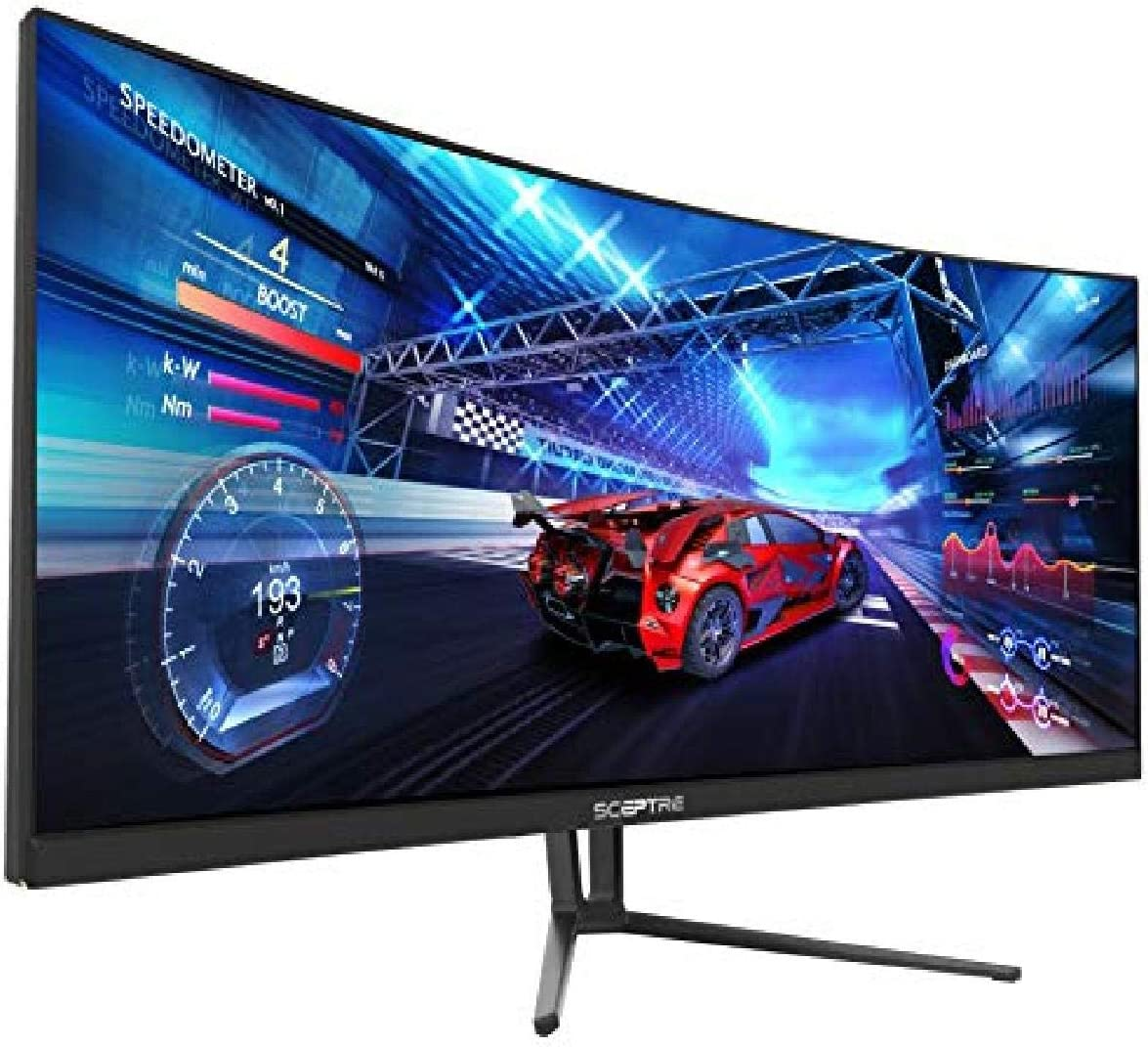 Sceptre 35 Inch Curved UltraWide 21: 9 LED Creative Monitor QHD 3440x1440 Frameless AMD Freesync HDMI DisplayPort Up to 100Hz, Machine Black 2020 (C355W-3440UN)