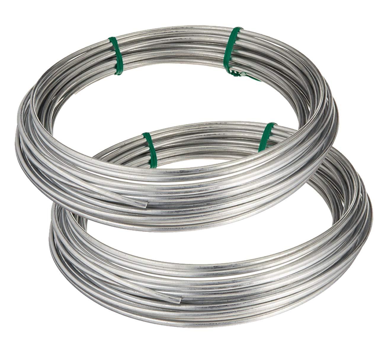 Amazon.com: Hillman 122062 Galvanized Solid Wire 9 Gauge, 50 foot ...