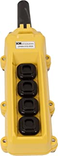 product image for KH Industries CPH04-D1D-000A 4 Push Buttons Pendant Control Switch, 2-Two Speed