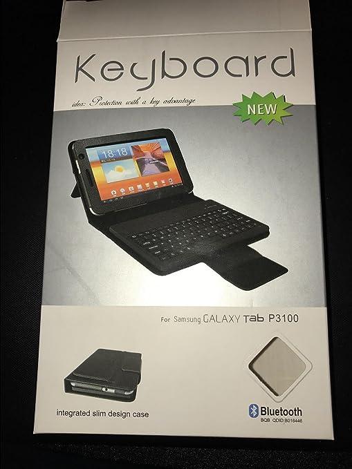 """Funda de piel con teclado Bluetooth para HTC Flyer P510E de 7"""""""