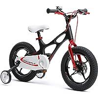 RoyalBaby Kids Bike Boys Girls Space Shuttle 3-9 Years 14 16 18 Inch Magnesium 2 Hand Disc Brakes Training Wheels…