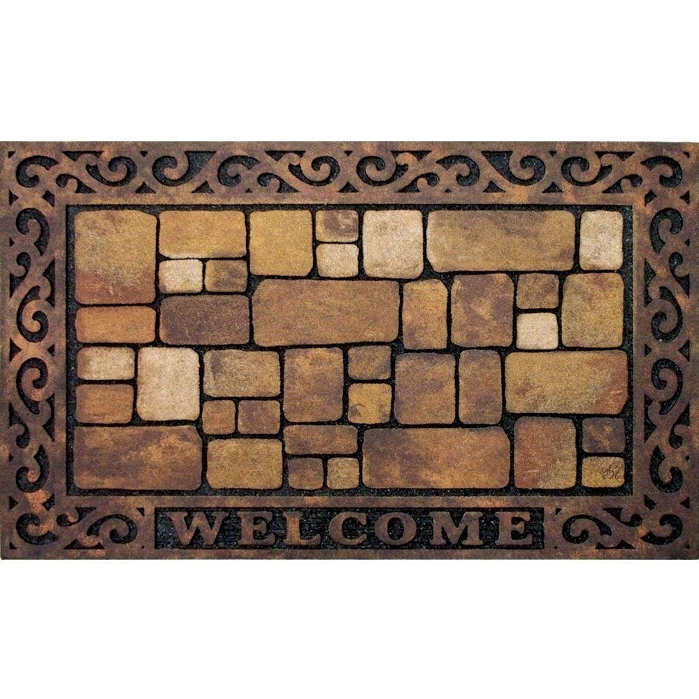 Apache Mills 60-732-1449-18x30 Masterpiece Aberdeen Welcome Door Mat, 18-Inch by 30-Inch (Limited Edition) by Apache Mills.