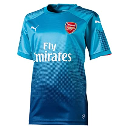 05e65af0312 PUMA Arsenal FC 2017 18 Short Sleeve Away Jersey - Youth - Blue Danube