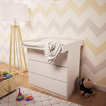 Cassettiera Ikea Malm 4 Cassetti.Polini Bambini Fasciatoio Per Como Malm Ikea In Bianco 1353 9