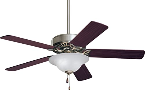 Emerson CF713BS Pro Series Energy Star 50-inch Dual Mount Ceiling Fan with Reversible Blades, 5-Blade Ceiling Fan with LED Lighting