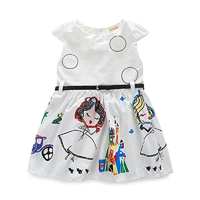 Amazon.com: BoomBoom bebé niñas vestido de verano, 2018 ...