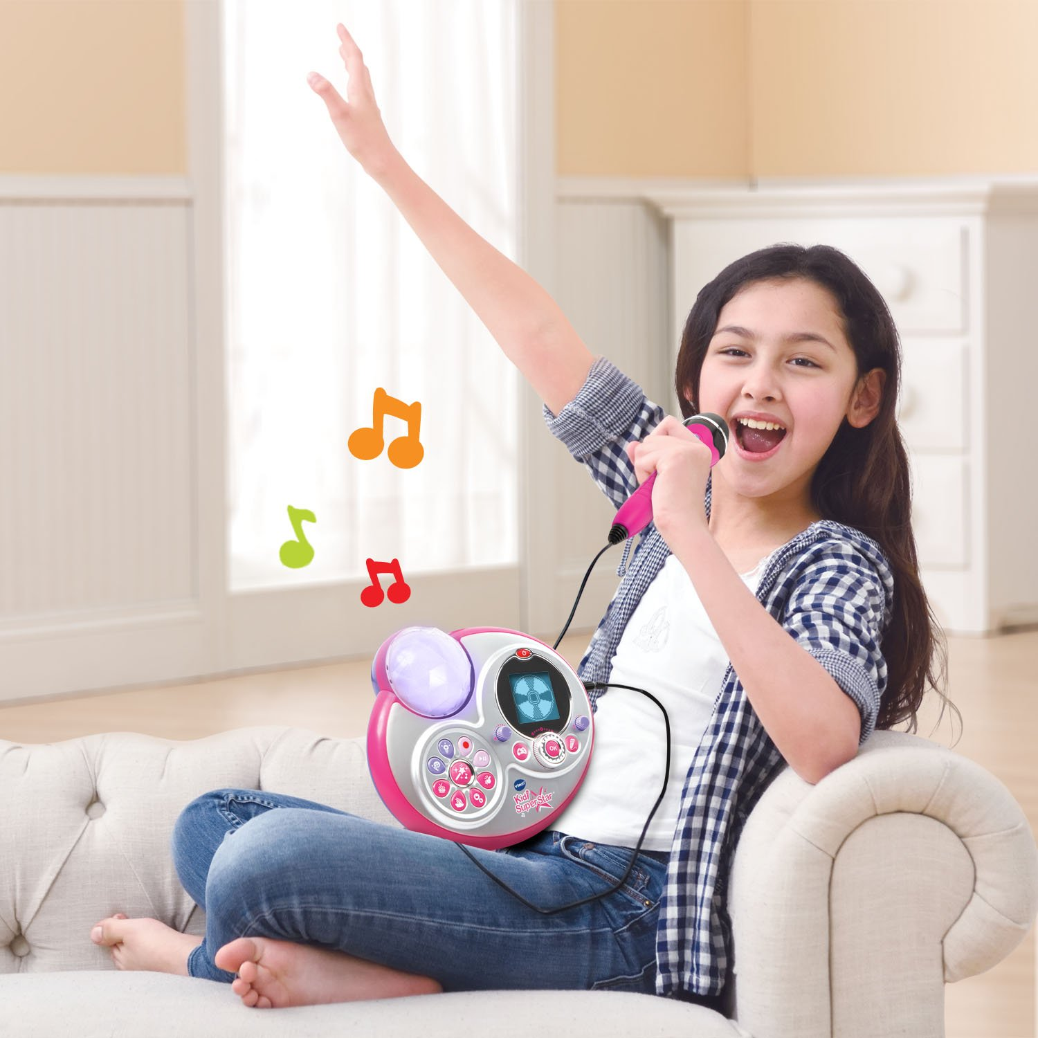 VTech Kidi Super Star Karaoke System with Mic Stand Amazon Exclusive by VTech (Image #6)