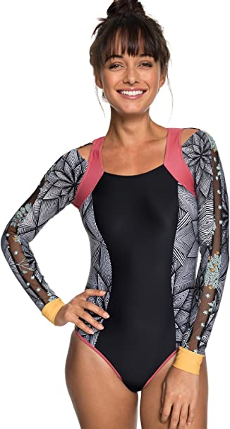 Amazon.com: Roxy Pop Surf de la mujer manga larga Onesie ...