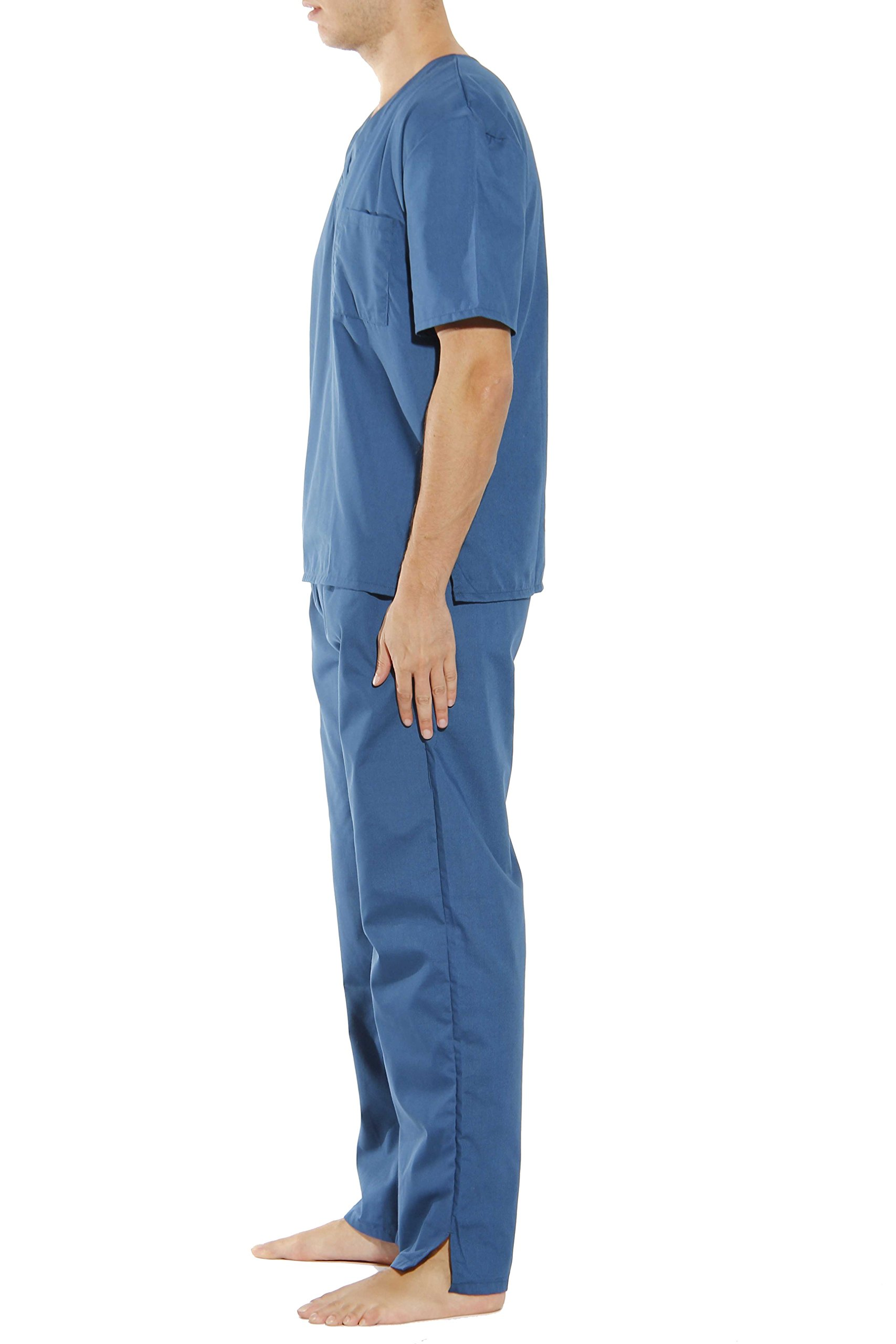 33000M-Carribean Blue-M Tropi Unisex Scrub Sets / Medical Scrubs / Nursing Scrubs by Tropi (Image #2)