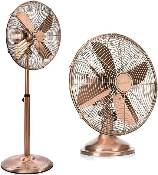 Tristar Set – Ventilador de mesa y ventilador de pie de color cobre 3 niveles de potencia; VE de 5971 VE 5970: Amazon.es: Hogar