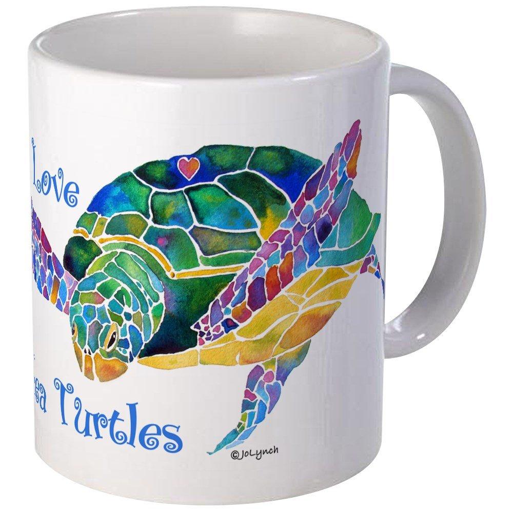 caf2837ee41 Amazon.com: CafePress - Beautiful Graceful Sea Turtle Mug - Unique ...