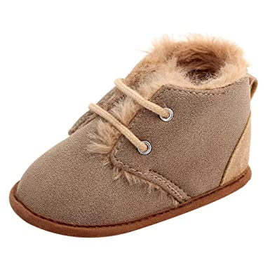 Vovotrade ❤ Stivali Invernali per Neonati Neonati Caldi Pantofole Patchwork  Antiscivolo Scarpe per Suole Morbide per Interni  Amazon.it  Abbigliamento 97b5d2695ab