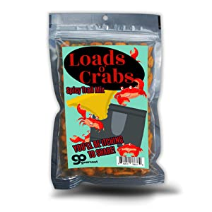 Loads O' Crabs Spicy Trail Mix - Funny Beach Snacks for Adults - Premium Blend, Made in the USA