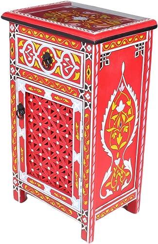 Moroccan red Nightstand Table Arabic Design Furniture
