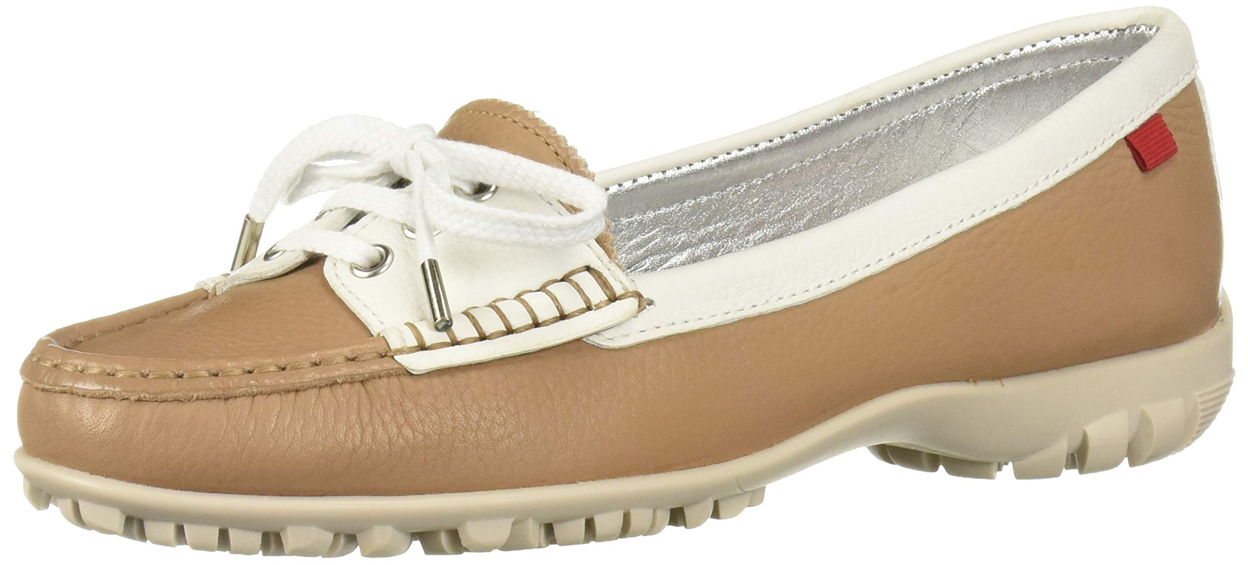 MARC JOSEPH NEW YORK Womens Leather Made in Brazil Liberty Golf Shoe, Sand Grainy, 9 M US by MARC JOSEPH NEW YORK