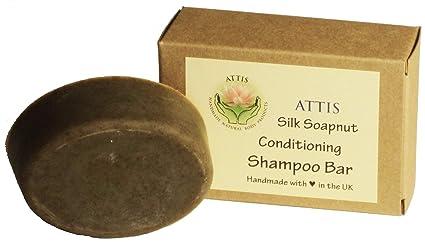 ATTIS - Barra de champú de seda con acondicionador de jabón, mezcla de hierbas,
