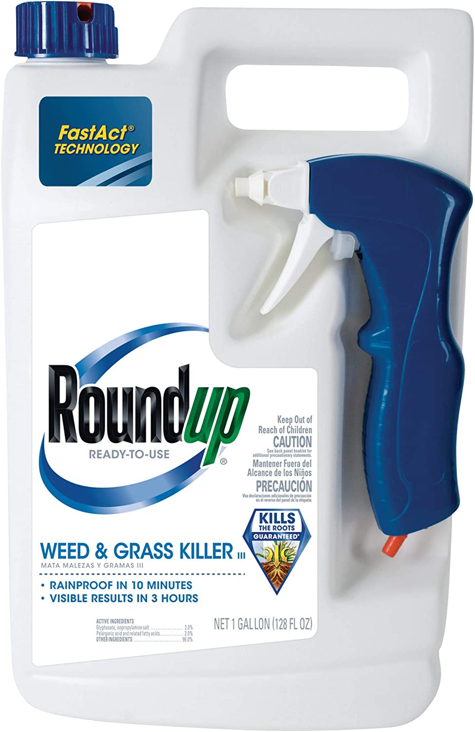 Roundup Weed and Grass Killer III Ready-to-Use Trigger Spray, 1-Gallon