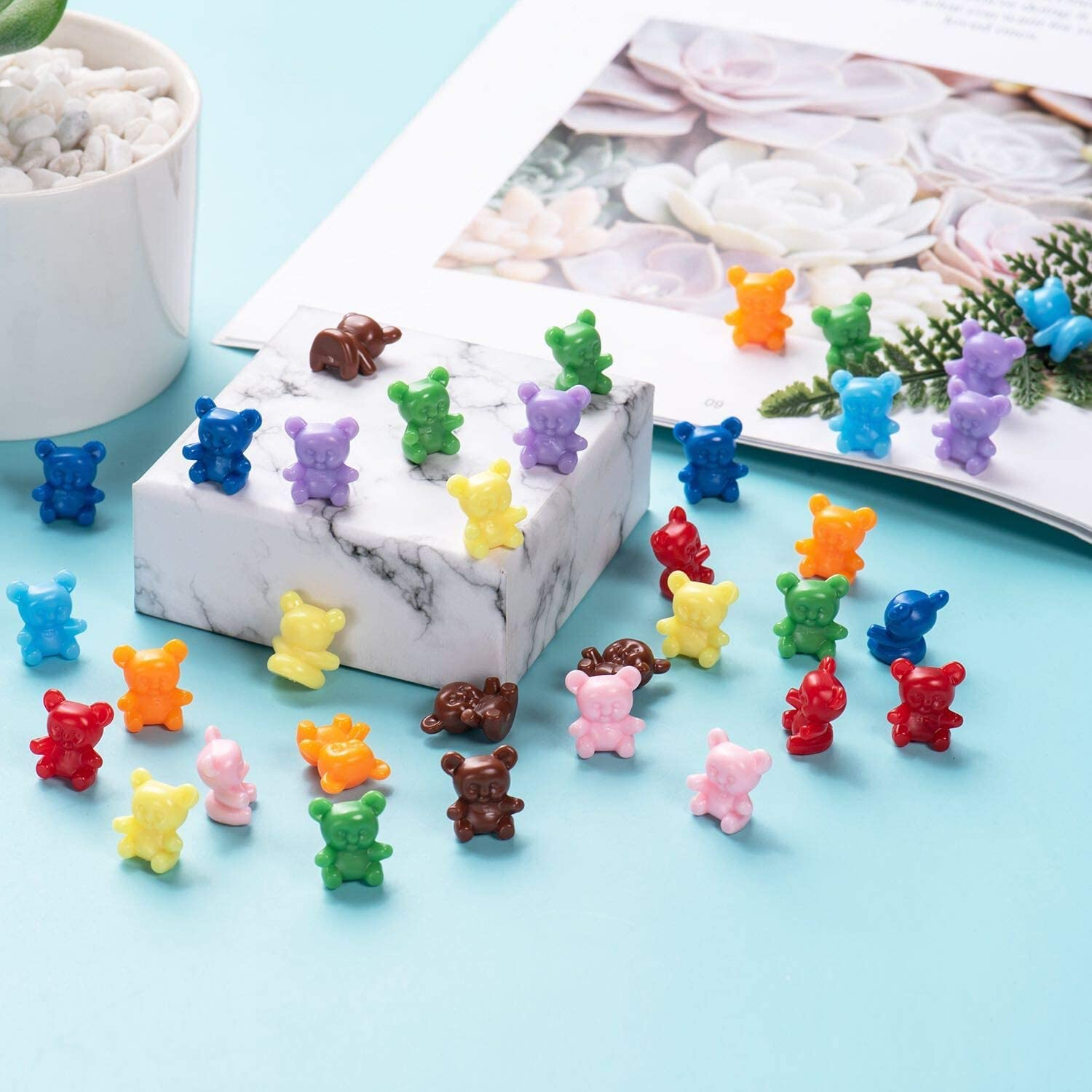 100PC Counting Bears Math Manipulatives Learning Resources Bears for Baby Shower Games Party Favors