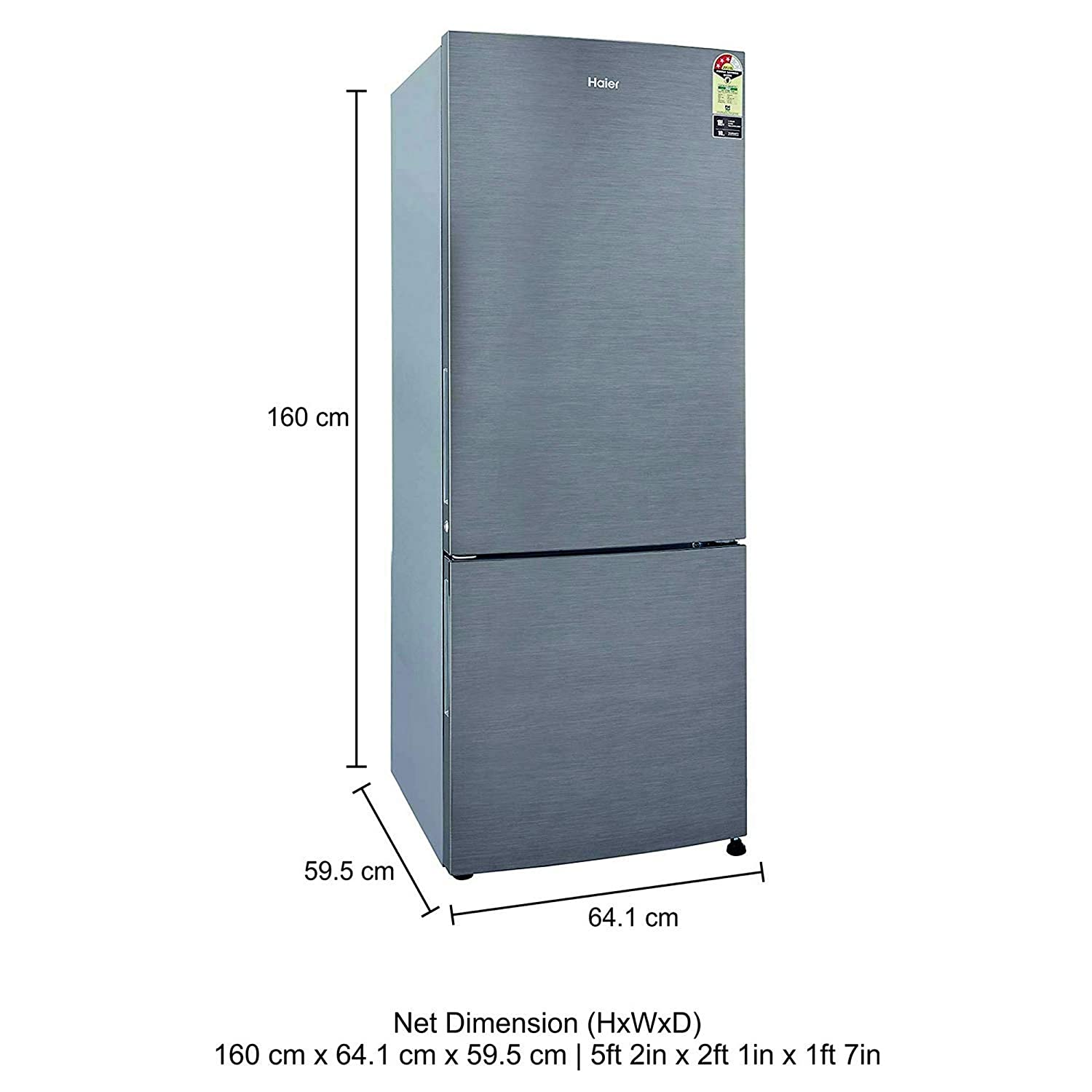 haier 320 l 3 star frost free double door  refrigerator(hrb-3404bs-r/hrb-3404bs-e, brushline silver, bottom freezer):  amazon in: home & kitchen