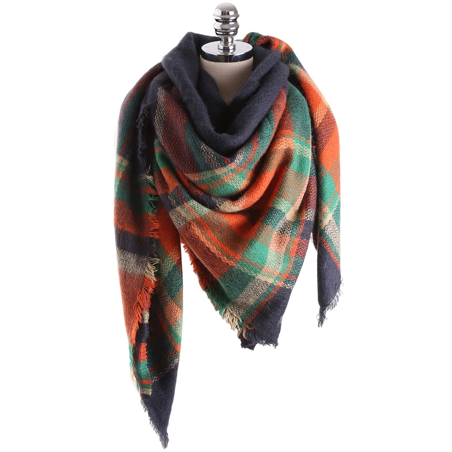 Warm Scarf, Motent Women's Fashion Wrap Shawl Plaid Thin Blanket for Winter Fall