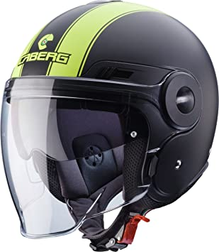 Caberg Casco modulable Duke Legend, color negro mate/amarillo neón, talla M