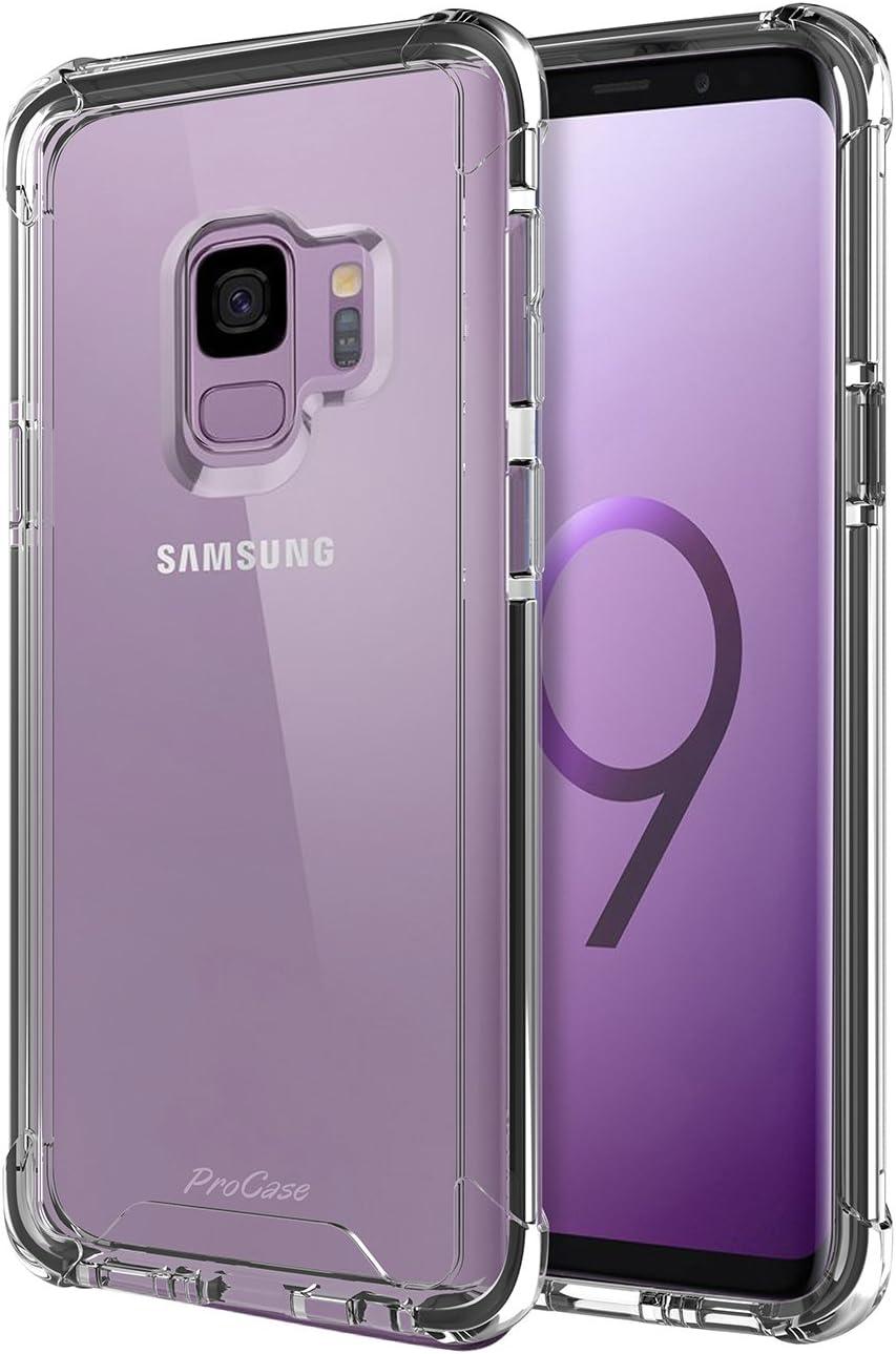 Funda Samsung Galaxy S9, ProCase Ultra Fina Híbrido Carcasa Transparente Funda Protectora para Samsung Galaxy S9 SM-G960F 2018 -Negro: Procase: Amazon.es: Electrónica