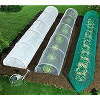 Weltbild Folientunnel-Set - Pflanztunnel Set mit 3 Folientunnel für Winterschutz, UV-Sonnenschutz und Vogelschutz, Beetabdeckung, Schutztunnel für Garten, 60 x 40 x 400 cm