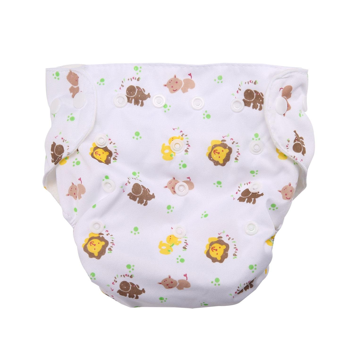 Womdee Reusable Swim Diaper with Adjustable Buckle,/Fashion Design Baby Swim Diaper Fits Diapers Sizes Ultra Premium Quality for Eco-Friendly Baby Shower Gifts Sun Flower, Lion, Blue Dot