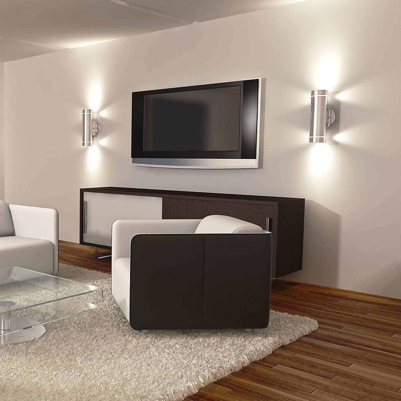 Artika C7 Stainless Steel Indoor//Outdoor Wall Light Vertical 3 Way Light Stream