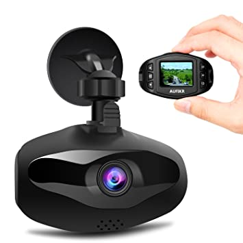 aufikr Dash Cam Full HD 1080p coche DVR grabador de vídeo Mini cámara para coche conducir