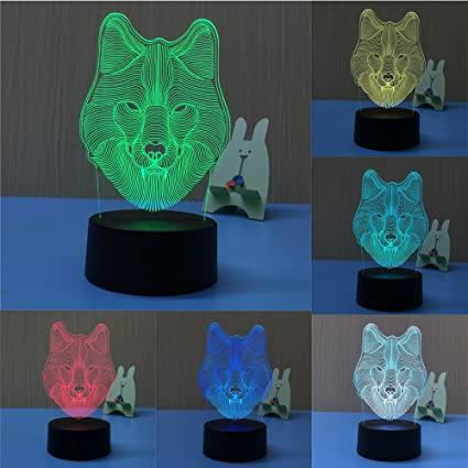 Night Lights 3d Led Desk Table Deer Night Light Lamp 7 Color Touch Lamp Kiddie Kids Children Family Holiday Gift Home Office Childrenroom The Last Style