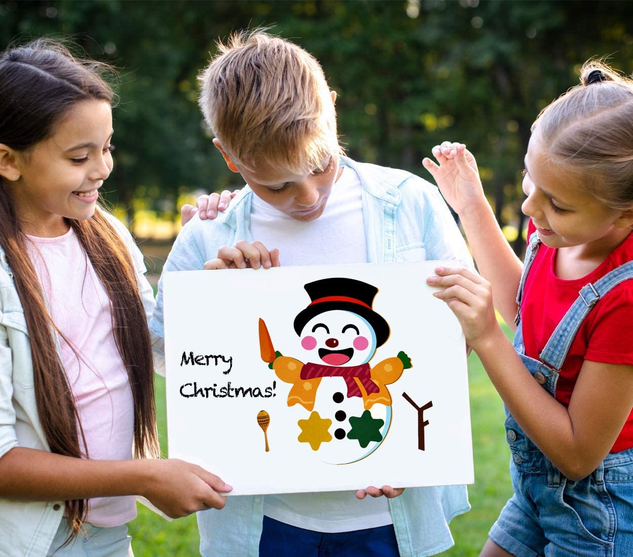 XJF Christmas Party Games for Kids,24pcs Make Your Own Snowman Stickers,Quarantine Xmas Party Supplies Favors for Classroom Children Activities