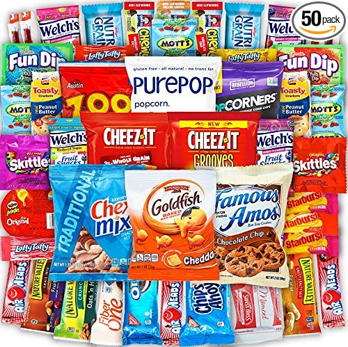 Canopy Snacks   Bulk Snacks (50 Count) Care Package – Variety Snack Box Gift Pack – Assortment Bundle With Chips, Candy And Cookies For College Students... by Canopy