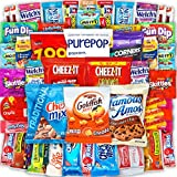 Canopy Snacks - Bulk Snacks (50 Count) Care Package – Variety Snack Box Gift Pack – Assortment Bundle with Chips, Candy and Cookies for College Students or the Office