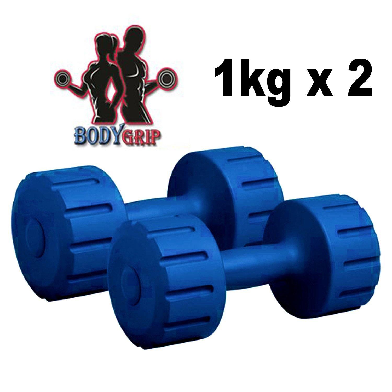 Bodygrip 1KG Gym Dumbbell, 1Kg Set of 2 (Blue)