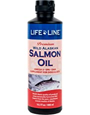 LifeLine Wild Alaskan Salmon Oil for Dogs and Cats, 16-1/2-Ounce