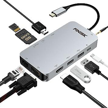 Amazon.com: USB C Hub, Adaptador de USB C 3.1 con tipo C ...