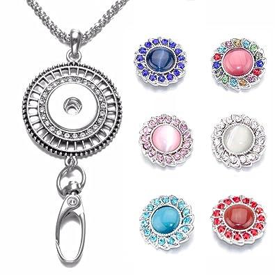 c9c74182292b Soleebee Correa para el Cuello 87cm Cadena de Plata Colgante de Hueco  Diamante de Imitacion con