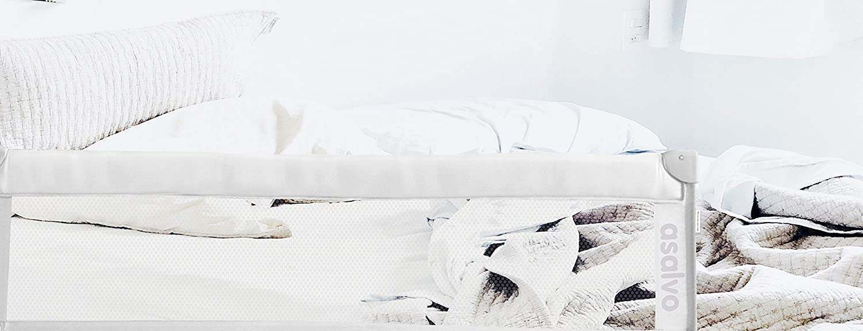 Barrera de cama Asalvo abatible 150 cm blanca