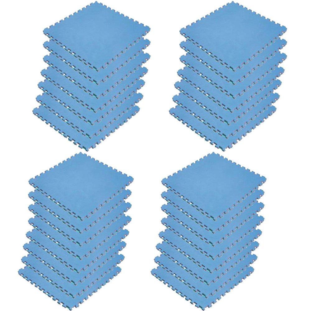 ボディメーカー(BODYMAKER) リバーシブルジョイントマット2.0 100×100×2cm レッド×ブルー 30枚   B01DLY8CFQ