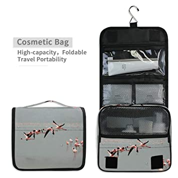 b94398f7c585 Amazon.com : Toiletry Organizer Wash Bag, Flying Flamingo Portable ...
