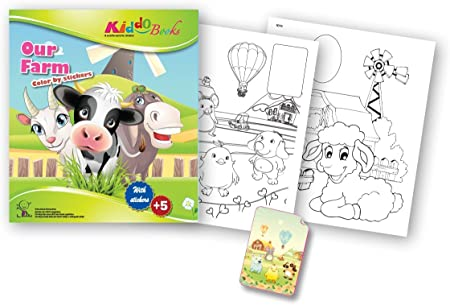 QuackDuck Colouring Book Our Farm - Colour by stickers ...