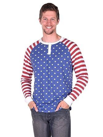 655e39a29510 Tipsy Elves Men s American Flag Henley Shirt at Amazon Men s ...