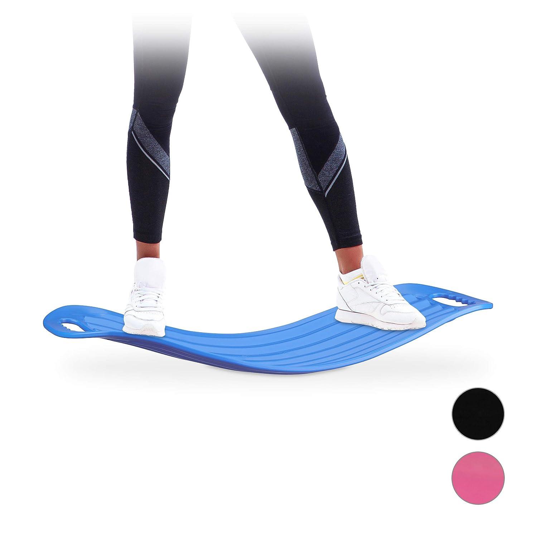 Relaxdays Twist Board belastbares XL Workout Board bis 150 kg blau handliches Balance Board f/ür Ganzk/örpertraining
