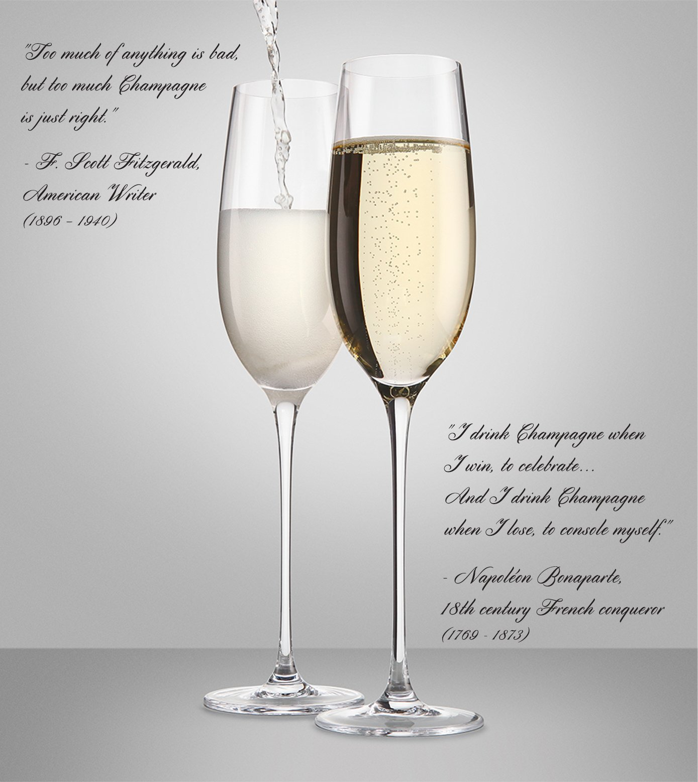 The Excelsior by DUX - Handmade, 100% Lead-Free, Crystal Champagne Flutes, Set of 2 Glasses, Elegant Gift Box by DUX (Image #6)
