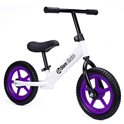 Kids Balance Bike Boys and Girls 3-6 Years Old with EVA Wheels No Pedal Adjustable Seat: Sports & Outdoors