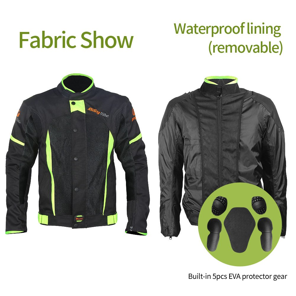 Built-in Removable Waterproof Lining Motorcycle Protective Jacket Breathable Mesh Design