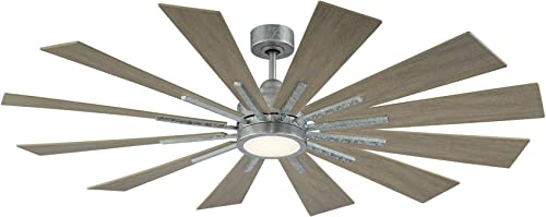 Savoy House 60-760-12WO-168 Farmhouse 60″ Weathered Oak Ceiling Fan 60″ W x 62″H