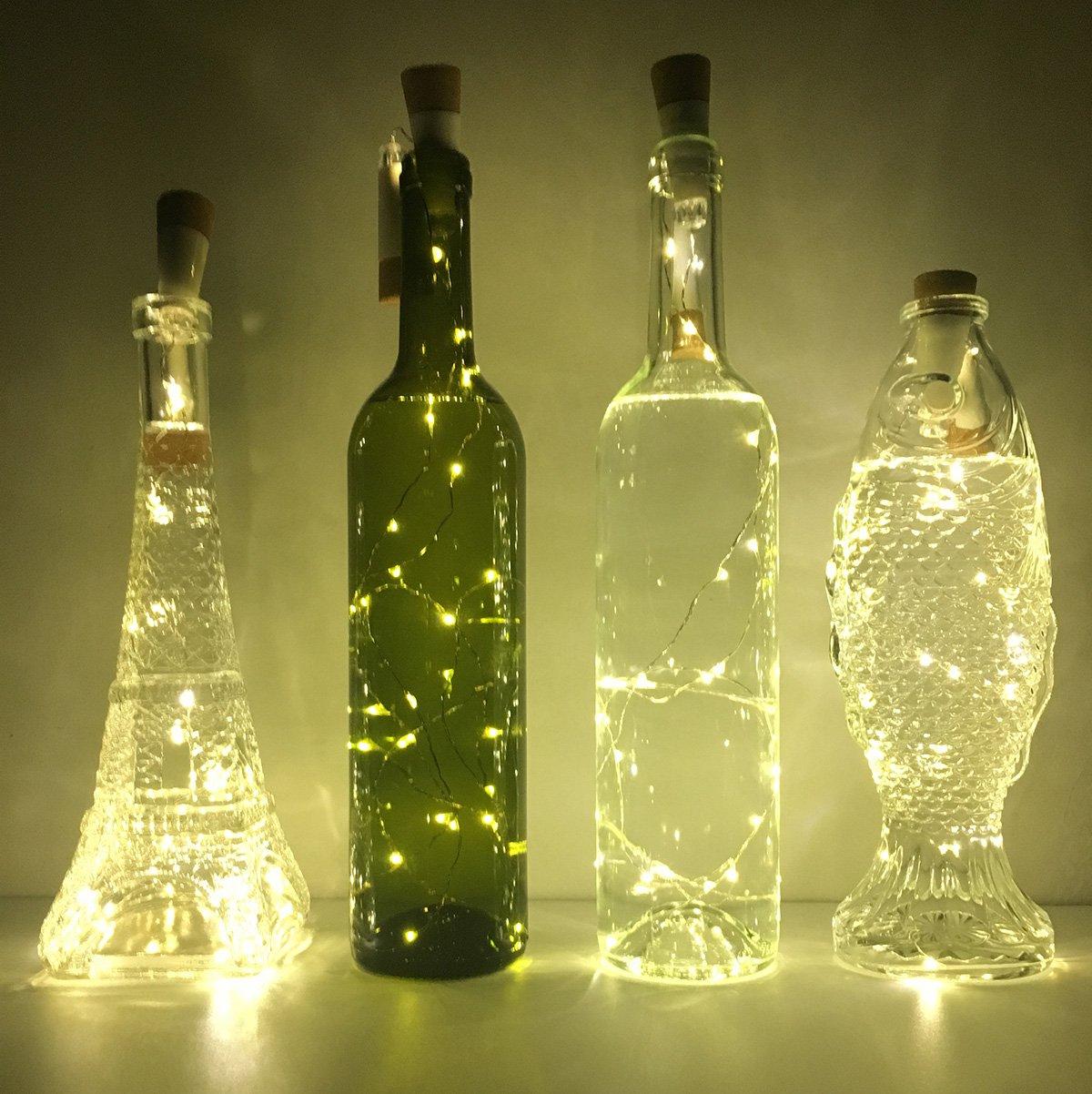 Amazoncom NeoJoy Wine Cork Lights Rechargeable