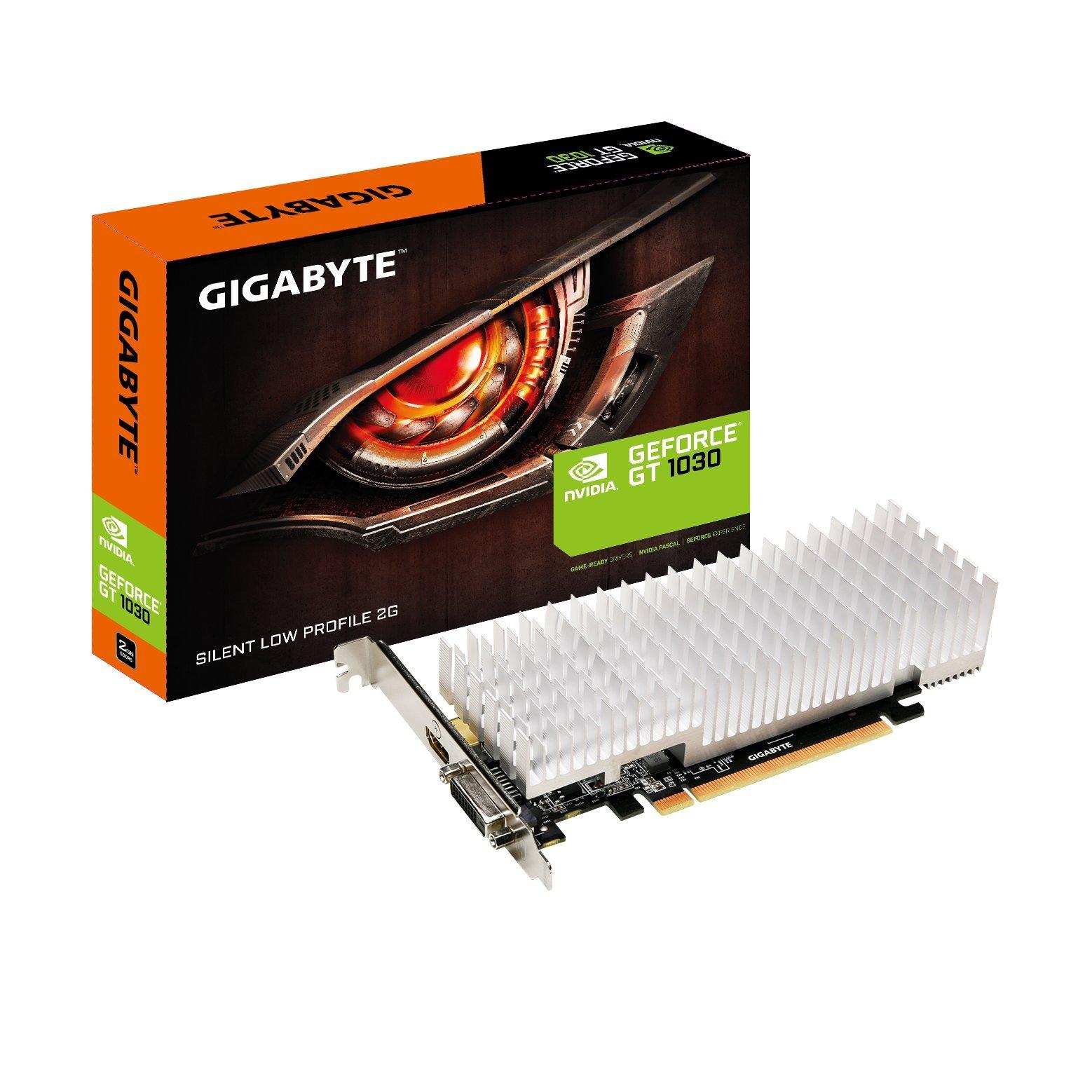 GIGABYTE GeForce GT 1030 GV-N1030SL-2GL Silent Low Profile 2G